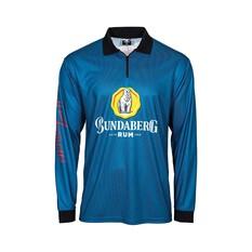 Bundaberg Rum Men's Sublimated Polo Blue S, Blue, bcf_hi-res