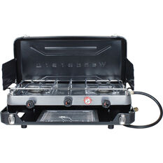 LPG Portable Stove with Grill 2 Burner, , bcf_hi-res