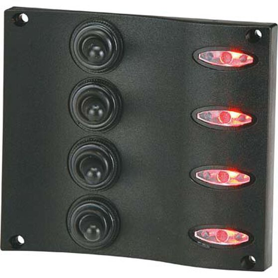 Blueline LED Switch Panel 4 Gang Vertical, , bcf_hi-res
