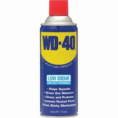 WD-40 Multi Purpose Low Odour Lubricant 300g, , bcf_hi-res