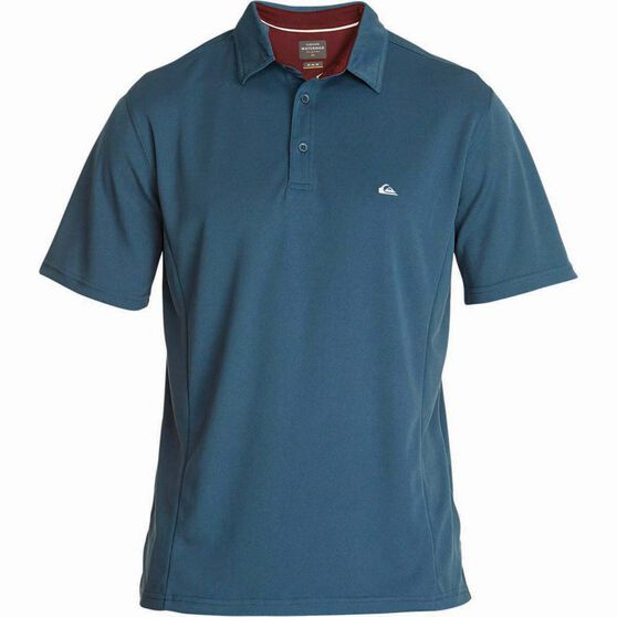 Quiksilver Men's Water 2 Polo, Orion Blue, bcf_hi-res