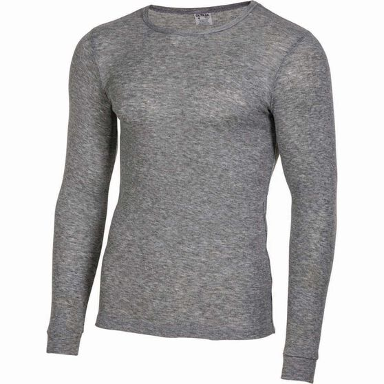 OUTRAK Men's Polypro Long Sleeve Top, Grey Marle, bcf_hi-res