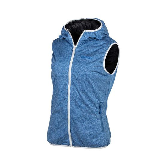 OUTRAK Reversible Puffer Vest - Womens 8 Black / Blue 8, Black / Blue, bcf_hi-res