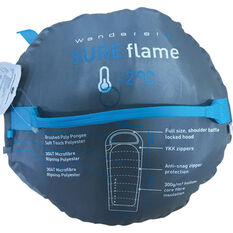 Wanderer SureFlame Hooded Sleeping Bag, , bcf_hi-res