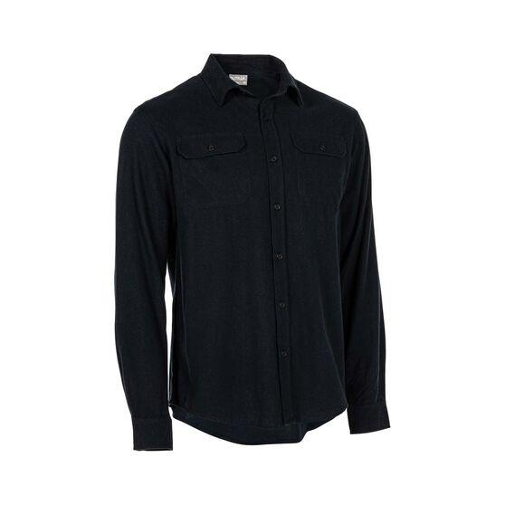 OUTRAK Men's Yarn Dye Flannel Shirt Navy S, Navy, bcf_hi-res