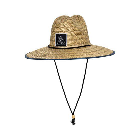 The Mad Hueys Men's Ocean Camo Straw Hat Navy OSFM, , bcf_hi-res