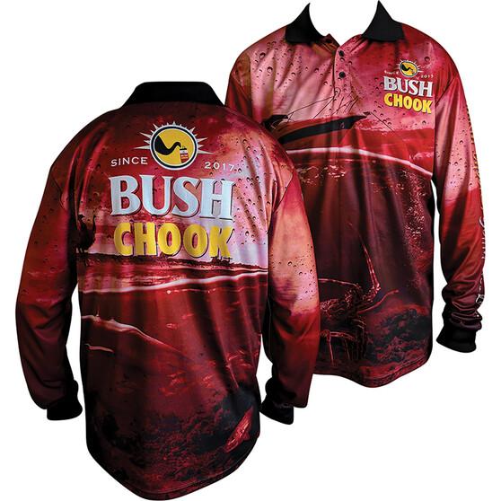 Bush Chook Men's Bush Chook Sublimated Polo, Print, bcf_hi-res