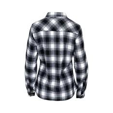Outrak Women's Flannel Shirt, Black / White, bcf_hi-res