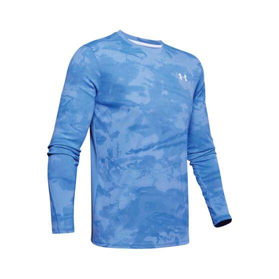 Under Armour Men's Shore Break Iso-Chill Sublimated Shirt Carolina Blue / White XL, Carolina Blue / White, bcf_hi-res