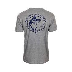 The Mad Hueys Men's Bait Tackle Short Sleeve Tee, Grey Marle, bcf_hi-res