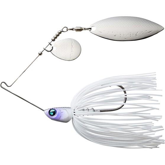 Daiwa Steez Spinnerbait Lure Silver White 3/8oz, Silver White, bcf_hi-res