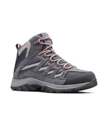 Columbia Women's Crestwood Mid Waterproof Hiking Boots Graphite 6, Graphite, bcf_hi-res