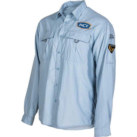 BCF Men's Long Sleeve Fishing Shirt Spray M, Spray, bcf_hi-res