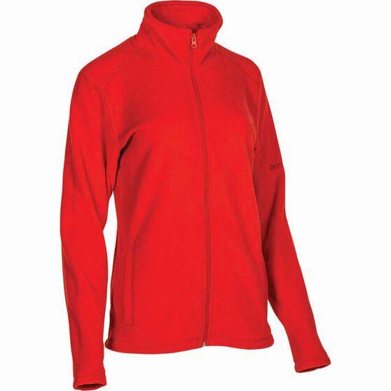 OUTRAK Women's Basic Fleece Jacket Coral 12, Coral, bcf_hi-res