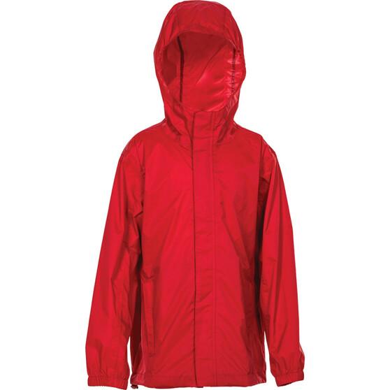 OUTRAK Kids' Packaway Rain Jacket, Red, bcf_hi-res
