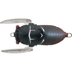 Tiemco Cicada Soft Shell Surface Lure 40mm Black, Black, bcf_hi-res