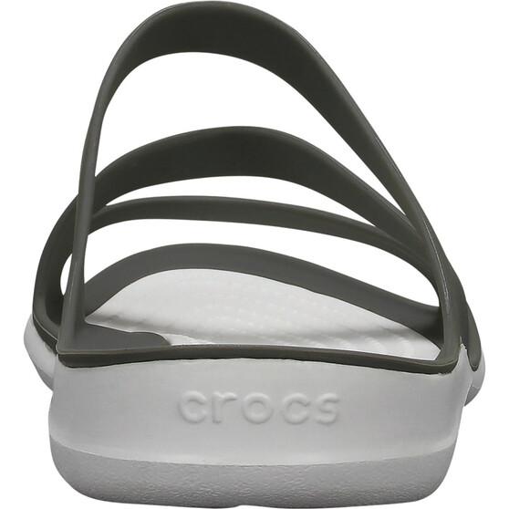 Crocs Women's Swiftwater Sandals, Smoke / White, bcf_hi-res