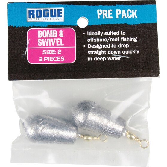 Rogue PP Bomb and Swivel Sinker Size 2 2 Pack, , bcf_hi-res