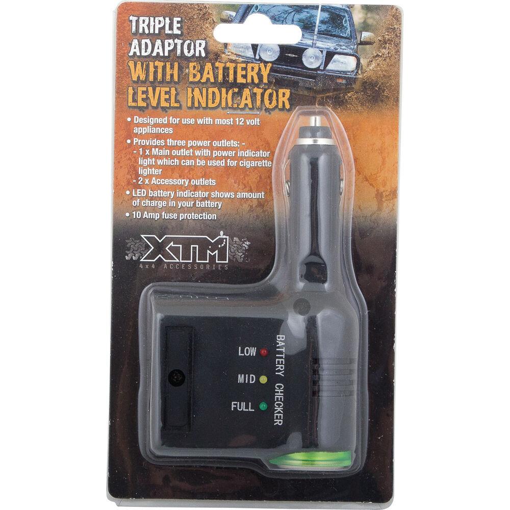 Xtm Adaptor Triple With Batt Level Indicator 12v 10a Bcf Battery Hi Res