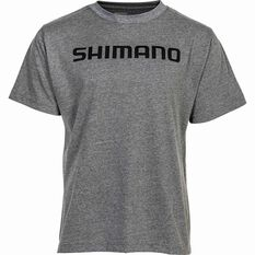 Shimano Men's Kanji Tee Grey S, Grey, bcf_hi-res