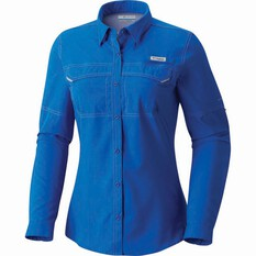 Columbia Women's Low Drag Offshore Long Sleeve Shirt Blue Macaw XS, Blue Macaw, bcf_hi-res