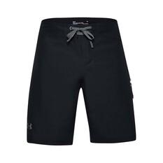 Under Armour Men's Shore Break Boardshorts Black / Grey 32, Black / Grey, bcf_hi-res