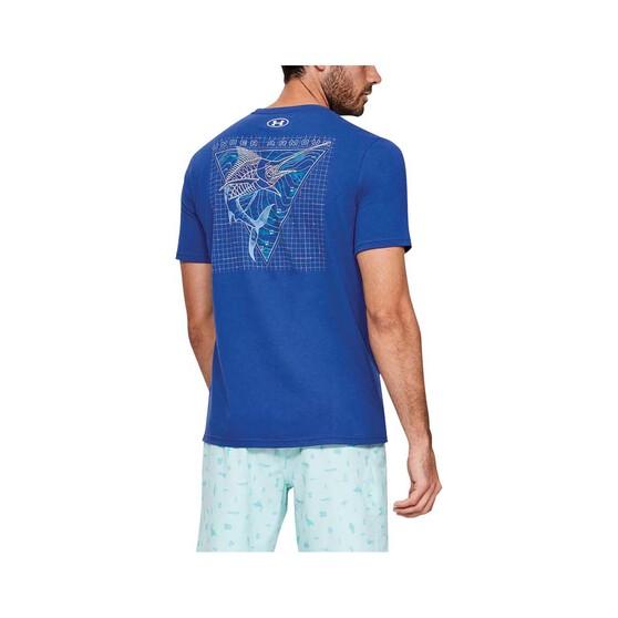 Under Armour Men's Marlin Skel-matic Tee, American Blue, bcf_hi-res