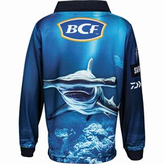 BCF Kids Hammerhead Sublimated Polo, Blue, bcf_hi-res