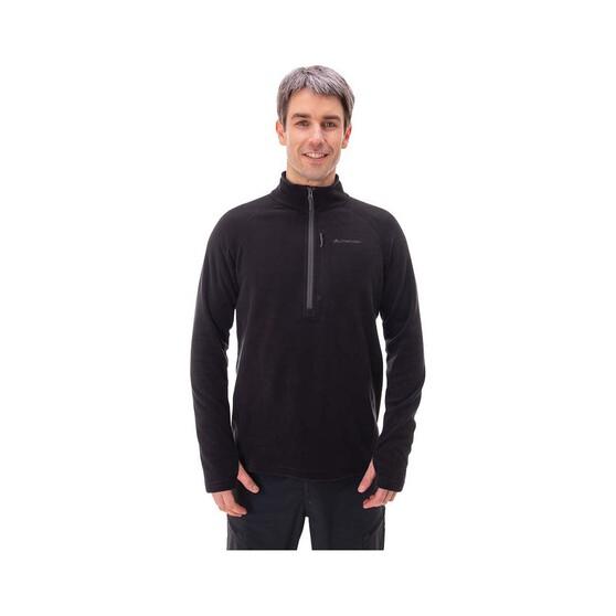 Macpac Men's Tui Fleece Pullover, Black, bcf_hi-res