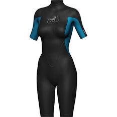 Women's Springsuit Wetsuit Blue / Black 6, Blue / Black, bcf_hi-res