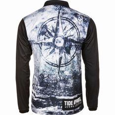 Tide Apparel Men's Navigate Fishing Jersey Grey / Black S, Grey / Black, bcf_hi-res