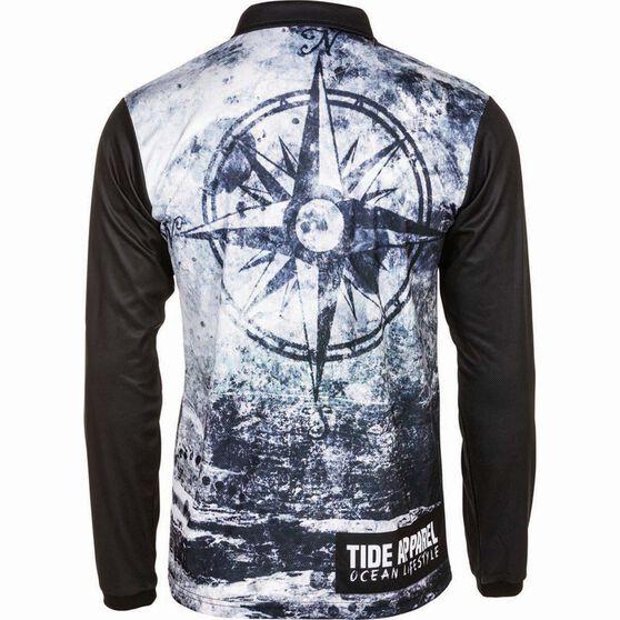Tide Apparel Men's Navigate Fishing Jersey, Grey / Black, bcf_hi-res