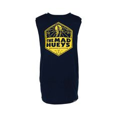 The Mad Hueys Youth The Catch UV Muscle Tank Navy 8, Navy, bcf_hi-res