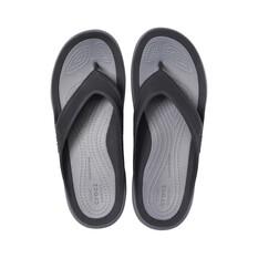 Crocs Swiftwater Wave Men's Flip, Black / Slate Grey, bcf_hi-res