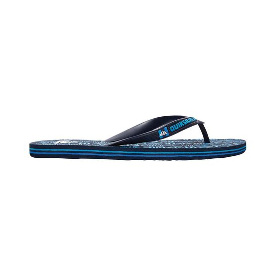 Quiksilver Waterman Men's Molokai Random Thongs, Blue, bcf_hi-res