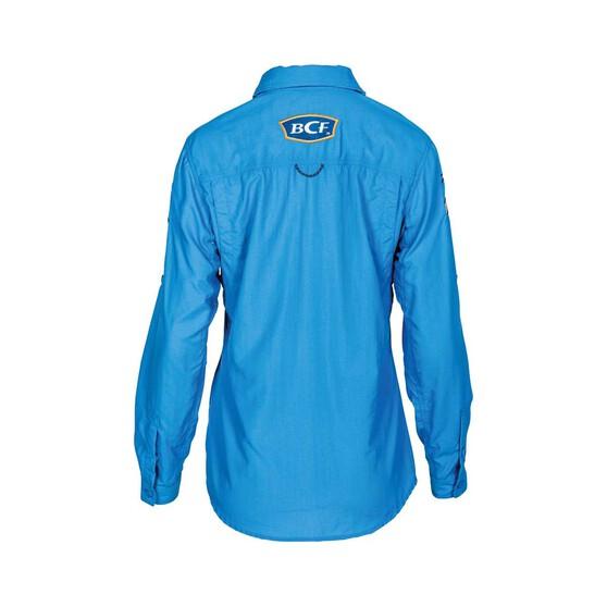 BCF Women's Long Sleeve Fishing Shirt, Azure, bcf_hi-res