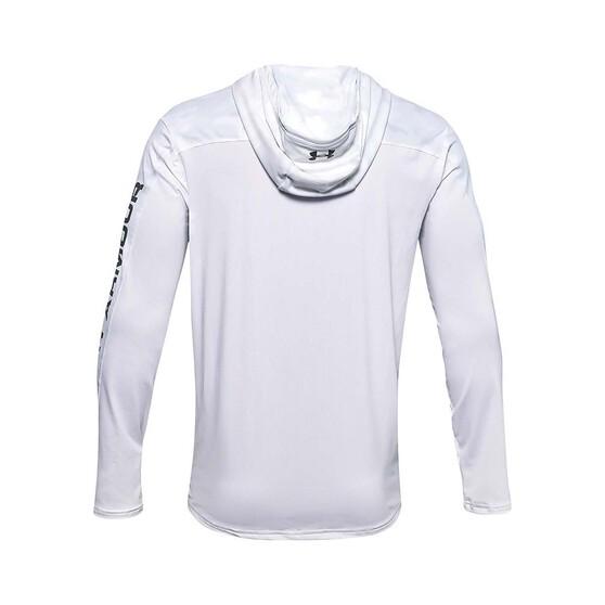 Under Armour Men's Isochill Shorebreak Camo Sublimated Hoodie White / Grey 2XL, White / Grey, bcf_hi-res