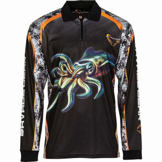 Savage Men's Squid Sublimated Polo Black XL, Black, bcf_hi-res