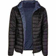 Men's Reversible Puffer Jacket Black / Navy S, Black / Navy, bcf_hi-res