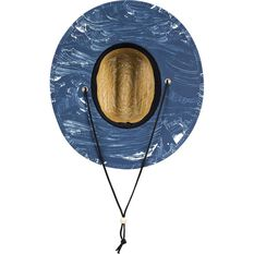 Quiksilver Waterman Men's Outsider Straw Majolica Blue S/M, Majolica Blue, bcf_hi-res