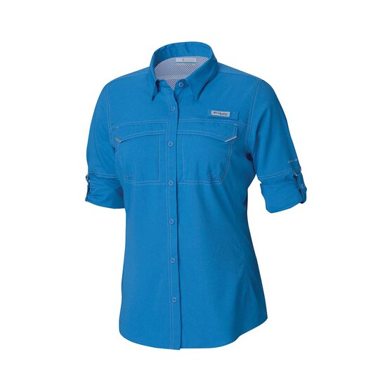 Columbia Women's Low Drag Offshore Long Sleeve Shirt, Azure Blue, bcf_hi-res