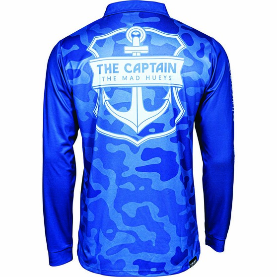The Mad Hueys Men's Armed Camo Fishing Jersey, Blue, bcf_hi-res