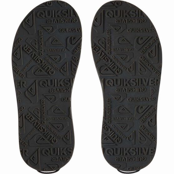 Quiksilver Men's Travel Oasis Slide Sandals, Black / Brown, bcf_hi-res