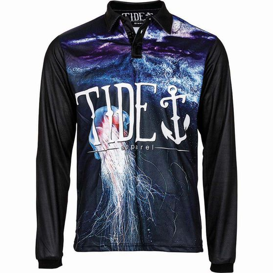 Tide Apparel Men's Jellyfish Sublimated Polo, , bcf_hi-res
