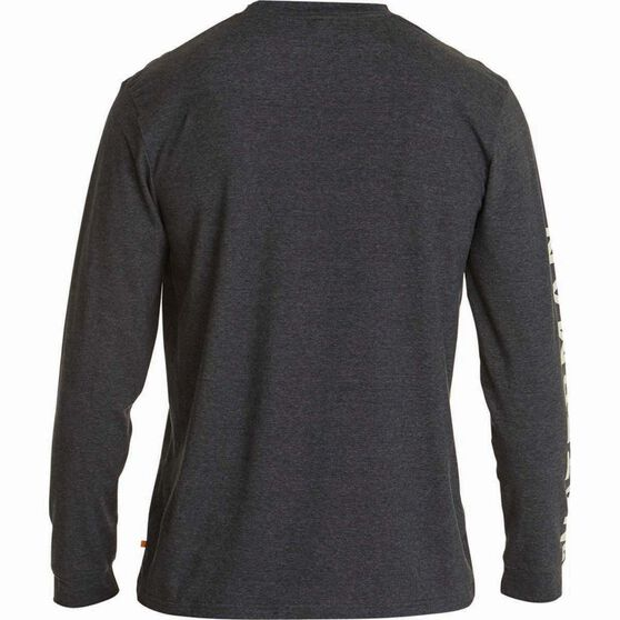 Quiksilver Men's Righty II Long Sleeve Tee, Charcoal Heather, bcf_hi-res