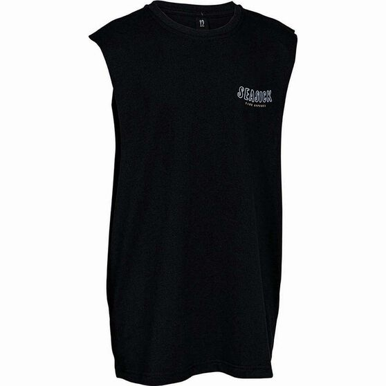 Tide Apparel Youth's Neon Tank, Black, bcf_hi-res