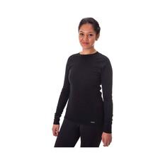 Macpac Women's Geothermal Long Sleeve Black 8, Black, bcf_hi-res