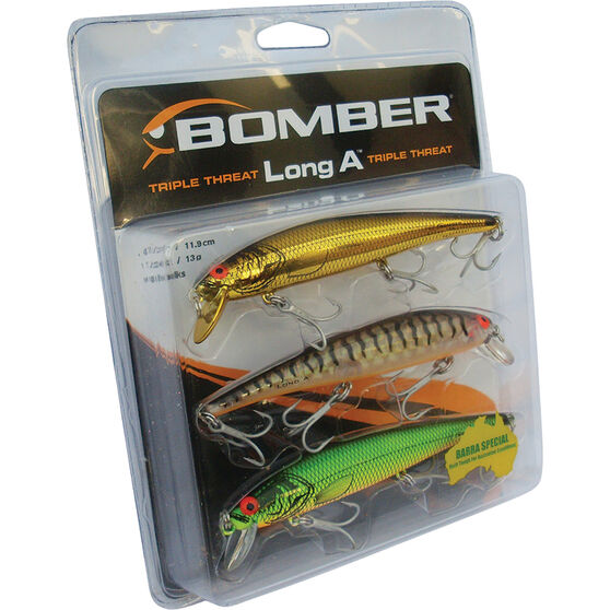 Bomber Barra Hard Body Lure Triple Pack 5, , bcf_hi-res
