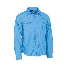 Outdoor Expedition Men's Long Sleeve Fishing Shirt, Blue, bcf_hi-res