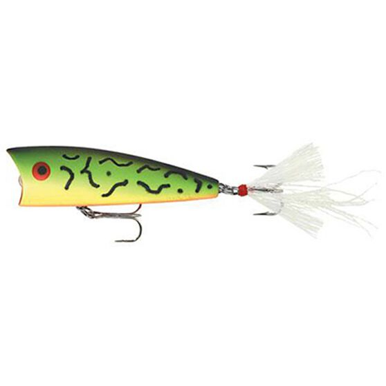 Rebel Teeney Pop-R Surface Lure 2in Fire Tiger, Fire Tiger, bcf_hi-res
